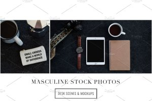 iPad办公场景样机模板 Masculine Stock Photos + iPad Mockup插图7