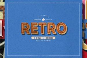 12款复古文本图层样式v1 Retro Text Effects Vol.01插图15