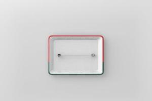 矩形徽章扣子样机模板 Rectangle Badge Button Mockup插图6