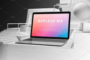 创意的Macbook展示模型Mockups打包下载[psd]插图6
