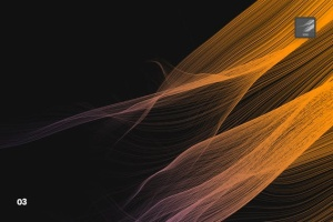 数码仿真柔顺头发特效图案PS笔刷 Digital Smooth Flow of Hairs Photoshop Brushes插图4