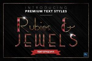 20款红宝石&珠宝文本风格的PS图层样式下载 20 RUBIES & JEWELS TEXT STYLES [psd,asl]插图12