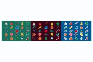圣诞节&冬季主题贴纸图案矢量设计素材包 Christmas And Winter Stickers Set插图4