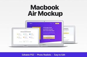 MacBook Air超极本电脑样机 Macbook Air Mockup插图2
