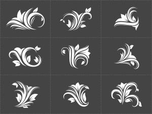 花卉装饰设计元素素材 Floral Decorative Design Elements插图2