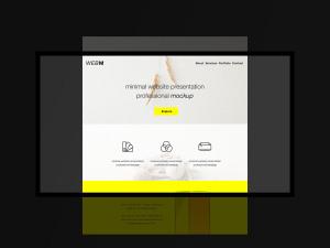 极简主义设计风格扁平化网站设计效果预览样机模板 Minimal Flat Website Presentation Mockup插图2