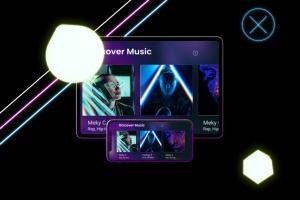 霓虹灯背景iPhone XS & iPad Pro样机模板 Neon iPhone XS & iPad Pro插图6