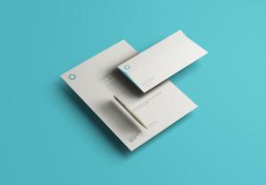企业VI设计办公用品立体悬浮效果图样机 Floating Identity Mockup插图1