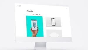 网站UI界面设计效果图预览白色iMac电脑样机模板 White iMac Mockup插图6