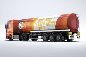 半挂车半挂卡车外观喷漆图案样机模板 Trucks Mock-Up插图7