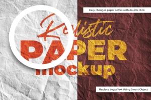 Logo设计印刷效果图纸张样机模板v1 SGM – Paper Logo Mockup.01插图3