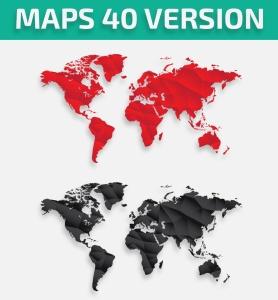 40种设计风格世界地图矢量图形设计素材下载 Map of the world 40 Version插图5