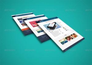 网站界面设计截图3D预览样机模板v3 3D Web Presentation Mockup (V3)插图7