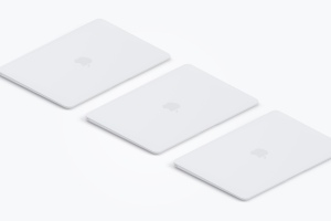 MacBook笔记本电脑右视图样机02 Clay MacBook Mockup, Isometric Right View 02插图3