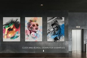 艺术照片智能对象图层PSD模板 Art Photo Template/Mock-up V.1插图5