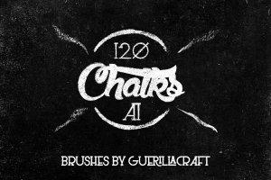 经典彩色黑板画粉笔AI笔刷 Megapack of chalks by Guerillacraft插图1