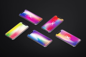 多角度iPhone X智能手机样机 Phone X Realistic Mock-Ups插图11