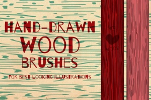 60款木纹纹路AI笔刷 Wood Brushes for Adobe Illustrator插图3