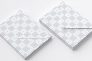 A7尺寸规格信封设计效果图样机模板 A7 Envelope Stack Mockup 01插图4