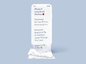 不一样的长滚动创意界面 iPhone X 样机 Free Long Scroll iPhone X Mockup插图7