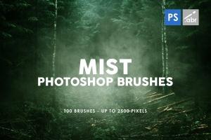 100个薄雾背景纹理PS烟雾笔刷 100 Mist Photoshop Stamp Brushes插图1