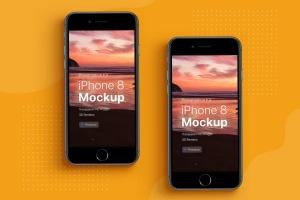 APP界面设计截图预览iPhone X手机样机模板v3 Presentation Kit – iPhone showcase Mockup插图4