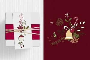 圣诞节主题矢量手绘剪贴画素材 Christmas Cliparts插图2