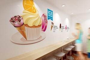 雪糕咖啡店铺品牌样机模板 Ice Cream – Coffee Branding Mockups插图1