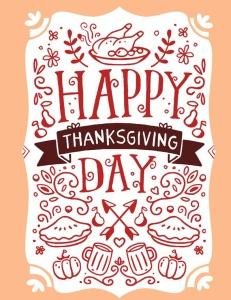 感恩节主题手绘设计矢量图形素材 Hand drawn thanksgiving illustration插图2