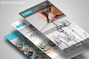 手机APP应用界面设计展示样机模板 Mobile Application Showcase Mockup插图2