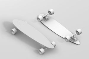 长滑板手绘图案设计样机模板 Skateboard Longboard Mockup插图7
