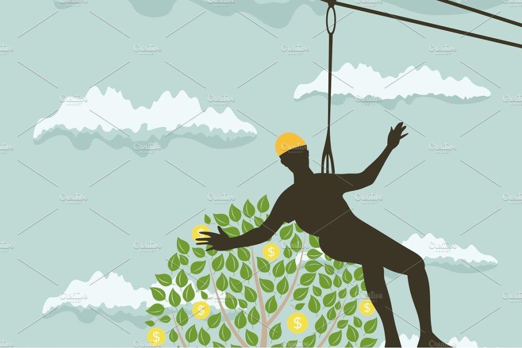 把人吊在树上摘金币  people money tree插图