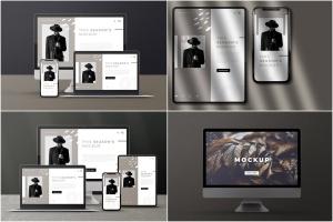 响应式网页设计多设备预览样机PSD模板 Modern Device Mockups插图1