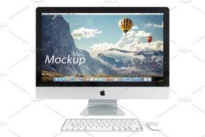 网站产品设计iMac样机展示模型 PSD  iMac mockup插图4