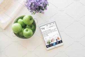 厨房场景平板电脑样机模板 Kitchen Tablet Mockup | PSD included插图1