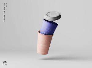7个咖啡纸杯定制外观设计效果图样机模板 7 Coffee Cup Mockups插图1