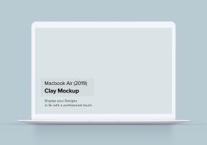 2019款MacBook Air超极本屏幕预览样机模板 Clay Macbook Air Mockup 1.0插图2
