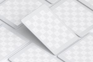 5K高清分辨率iPad平板电脑多屏幕预览效果样机05 Clay iPad 9.7 Mockup 05插图3