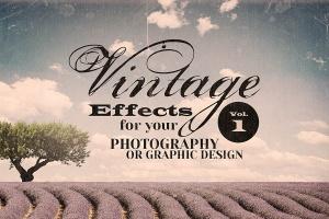复古艺术照效果PS图层样式 Vintage Effects for Photo or Designs插图1