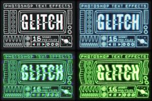 毛刺字体特效设计PSD模板 Photoshop Glitch Text Effects插图9
