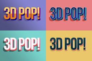 """10款""""吸睛大法""""3D立体文字图层样式 3D POP! Photoshop Effects插图9"""
