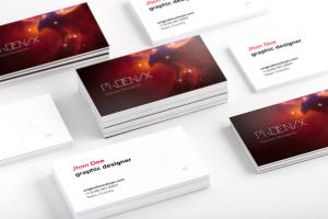 企业名片正反面设计效果图预览样机02 Business Cards Mockup 02插图1