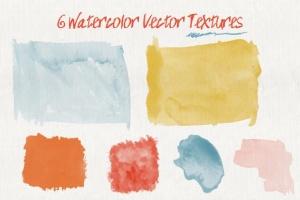 36款水彩画AI画笔笔刷&水彩质感肌理纹理 Set of Watercolor Brushes and Textures插图(3)