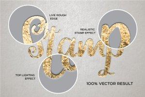 华丽金箔烫金效果PS图层样式 for AI Foil Stamp Effect For Illustrator插图2