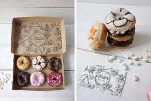 咖啡甜品牌样机模板 Coffee Doughnut Mockup插图7