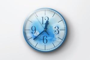 逼真圆形传统指针挂钟样机 Wall Clock Mockup插图5