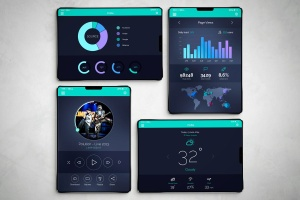 概念版本iPad X样机模板 iPad X Mockup插图1