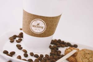 咖啡品牌VI设计预览咖啡杯特写视图样机 Large Coffee Cup Mockup – Close up View插图1