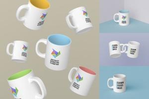高品质时尚的马克杯样机套装 Mugs Mockups Pack插图1