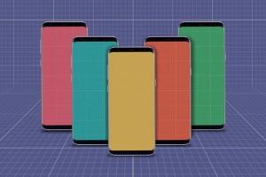 三星智能手机S9应用程序演示设备样机 S9 Mockup插图13